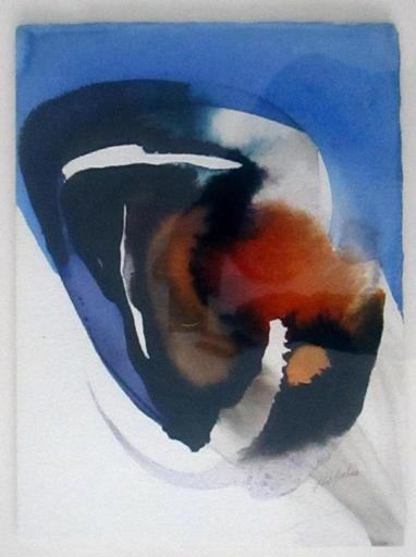 Paul JENKINS - Drawing-Watercolor - Un certain visage
