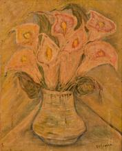 Lazare VOLOVICK - Pintura - Floral still-life