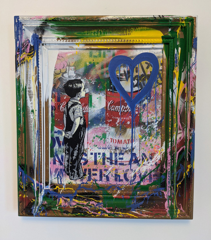 MR BRAINWASH - Painting - With All My Love (canvas)