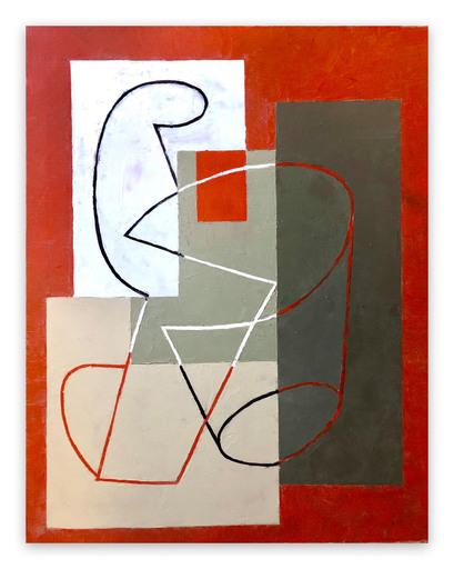 Jeremy ANNEAR - Peinture - Breaking Contour (Red Square) II