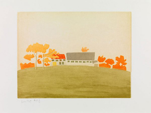 Alex KATZ, House and Barn, 1954 From the portfolio Small Cuts