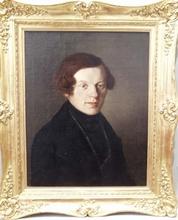 """Eduard VON ENGERTH - Peinture - """"Portrait of a Young Man"""", middle 19th Century"""