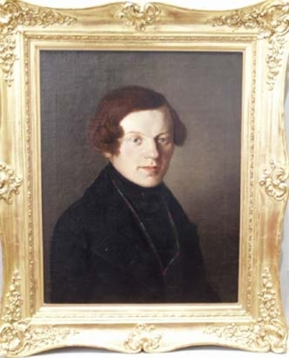 """Eduard VON ENGERTH - Pittura - """"Portrait of a Young Man"""", middle 19th Century"""