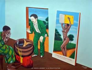 Chéri SAMBA - Painting - Renoncement à la prostitution