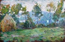 Henri Baptiste LEBASQUE - Painting - Paysage à la meule