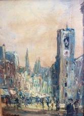 Hendrik Jan WOLTER - Painting - Beurs van Berlage