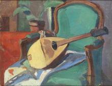 François DESNOYER (1894-1972) - Composición con Mandolina y Butaca