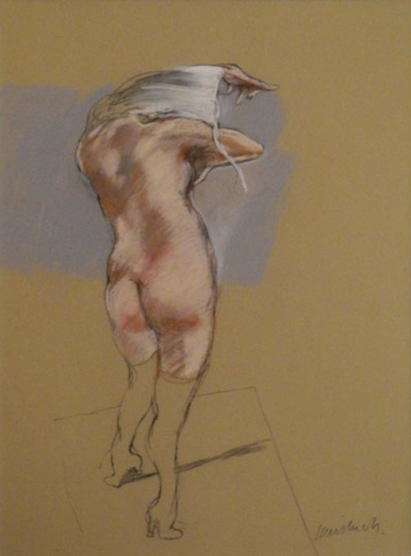 Claude WEISBUCH - Dessin-Aquarelle - Nu