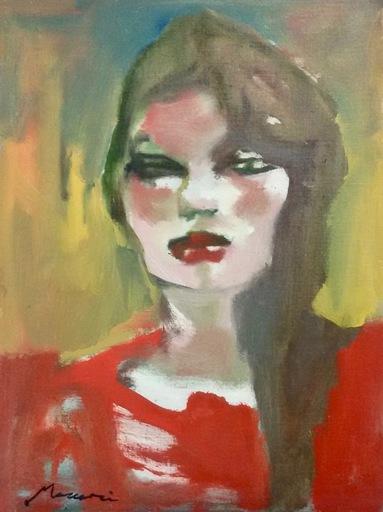 Mino MACCARI - Pintura - Ragazza