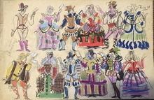 Pedro FLORES - Dessin-Aquarelle - Costumes