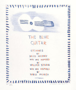 David HOCKNEY, The Blue guitar