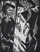 施密特-罗特卢夫 - 版画 -  Three at the Table | Drei am Tisch