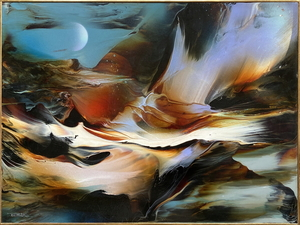Leonardo M. NIERMAN - 绘画 - Lunar influence