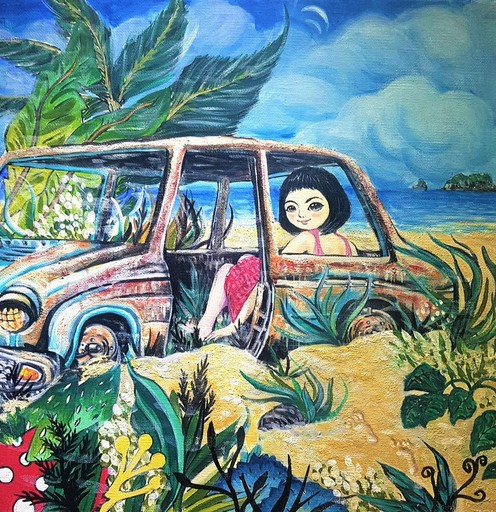 Seung-Hun SHIN - Gemälde - Fantasy Jejuisland - Sea Story