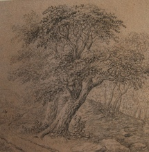 Anthonie WATERLOO - Dibujo Acuarela - A wooded landscape with a farmer with his cattle