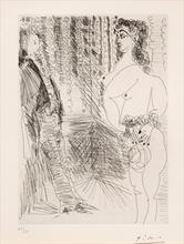 Pablo PICASSO - Print-Multiple - Le Cabinet particulier. Degas et une Fille, Pl.80 from 'Sér