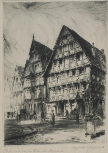 Ernst ZIPPERER - Grabado - Celle bei Hannover