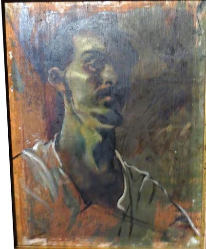 Alexander Evgenevich IACOVLEFF - Painting - Self-Portrait
