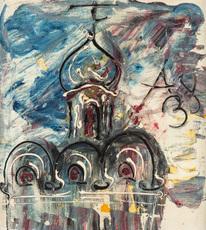 Anatolij Timofeevic ZVEREV - Painting - The Church