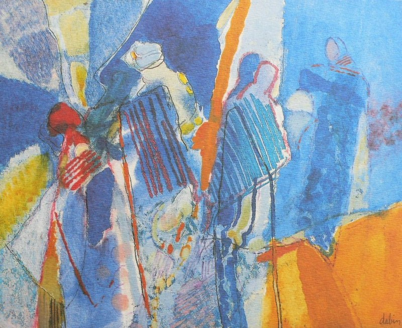 "Joël DABIN - Print-Multiple - ""Au Rajasthan"""