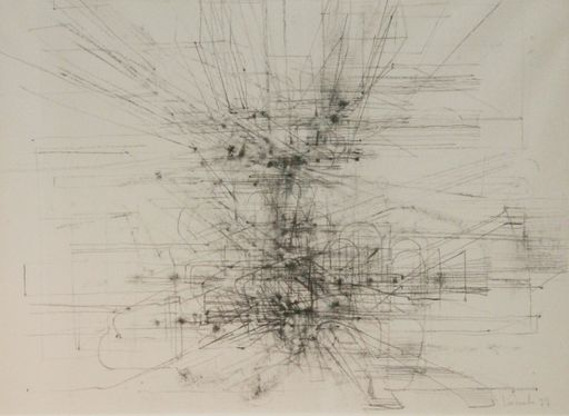 Jules LISMONDE - Dibujo Acuarela - Espace est sans bornes