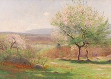 Edmund Elisha CASE - Painting - Flowering Trees, New England