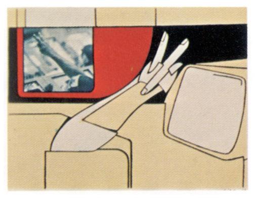 Valerio ADAMI - Print-Multiple - On the Moon