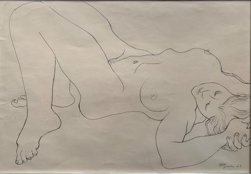Édouard PIGNON - Drawing-Watercolor - Nu féminin