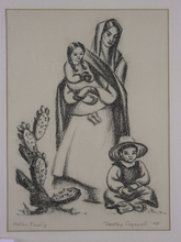 Dorothy McIntosh COGSWELL - Dibujo Acuarela - Indian Family