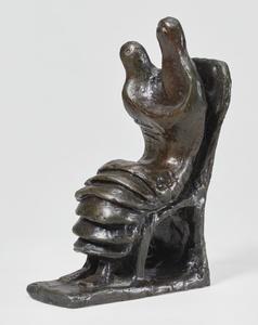 Henry MOORE - Skulptur Volumen - Mother and Child: Petal Skirt