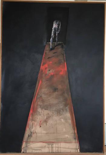 Vladimir VELICKOVIC - Gemälde -  Descente - Fig IV