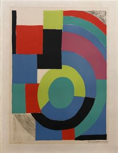 Sonia DELAUNAY - Print-Multiple - Composition