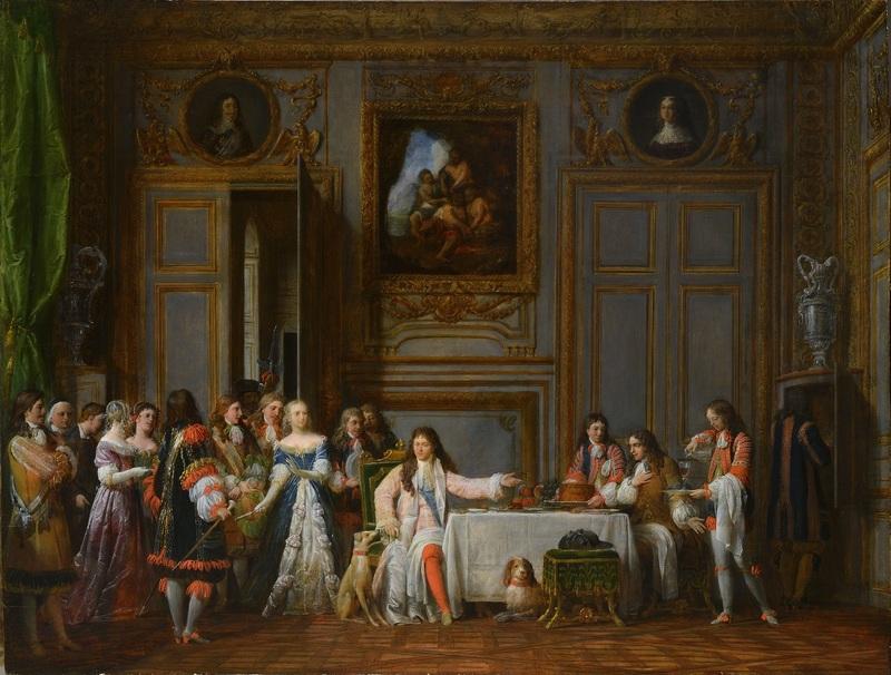 Jean-François GARNERAY - Painting - Molière honoré par Louis XIV