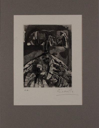 Alberto GIRONELLA - Grabado - Senza titolo da 'Avanguardia internazionale', vol. 4