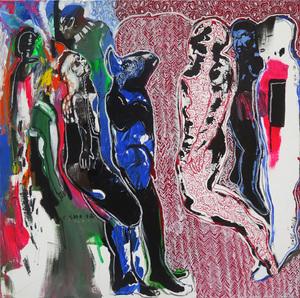 Soly CISSÉ - Peinture - Untitled