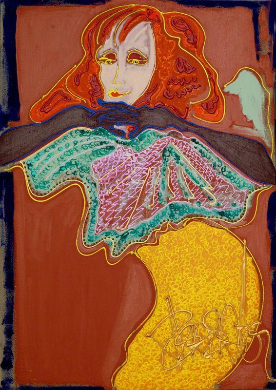 Isa SATOR - Painting - Yvette Guilbert    (Cat N° 6743)