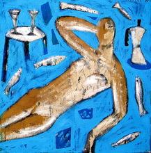 Jorge CABEZAS - Painting - desnudo III