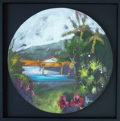 Anne Christine WELLENSTEIN - Peinture - Retour des Iles - Ma cabane orange