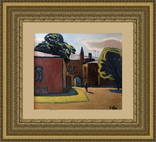 Valeriy NESTEROV - Gemälde - The yard on Sergiy Radonezhskiy Street. Moscow