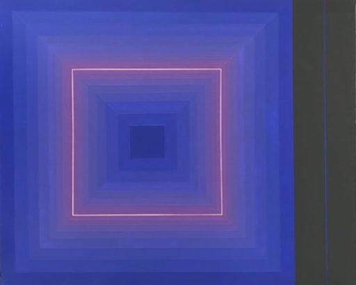 Horacio GARCÍA ROSSI - Peinture - Couleur lumière carré de face et de profil