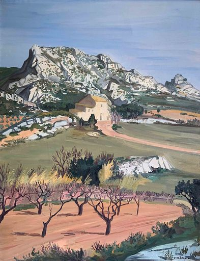 Yves BRAYER - Pintura - Le mas aux Alpilles