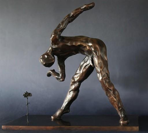Christian LIGNAIS - Skulptur Volumen - Courbettes et fleurette