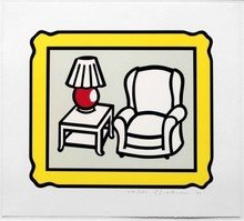 Roy LICHTENSTEIN - Print-Multiple - Red Lamp