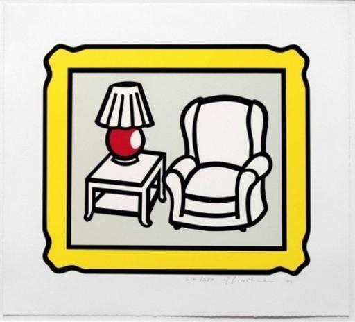 Roy LICHTENSTEIN - Stampa Multiplo - Red Lamp