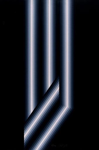Axel DICK - Estampe-Multiple - Draft- vertikale Lichtstreifen und diagonal