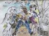 Ludwig KLIMEK - Disegno Acquarello - Filles de joie