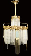 Hector GUIMARD - Glass &  Gilt Bronze Chandelier