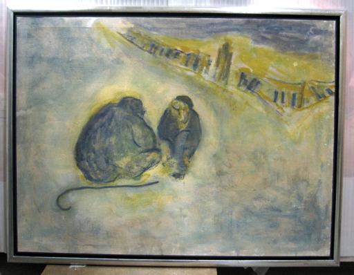 Luis CLARAMUNT - Painting - Figuras sentadas