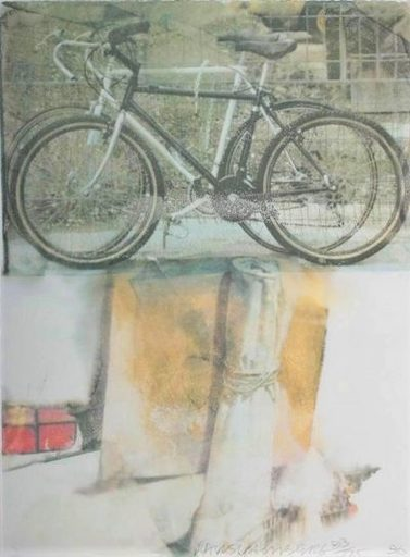 Robert RAUSCHENBERG - Stampa-Multiplo - Two bicycles