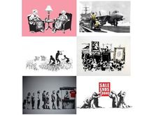 BANKSY - Estampe-Multiple - Banksy LA SET unsigned 6 print total from the Barely Legal s